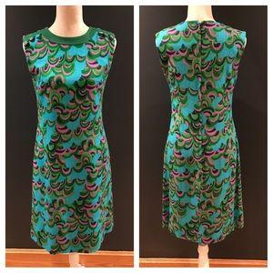 PARKSHIRE Vintage mod linen dress. 70's Size 8